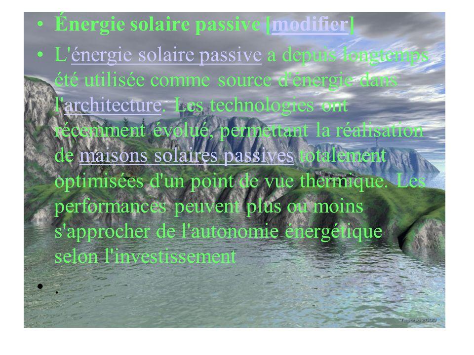 Énergie solaire passive [modifier]